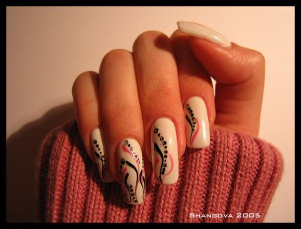 Маникюр дизайн ногтей иглой и маникюр