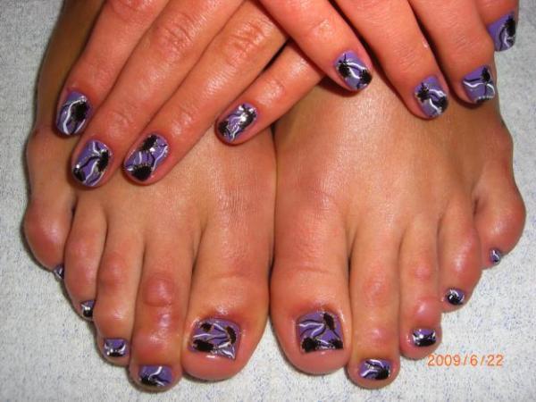 неудачный дизайн ногтей: